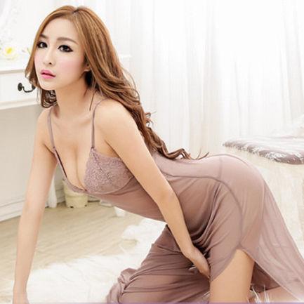 Wanita sexy lingerie gaun sleepwear underwear malam api dress g string kostum seksi