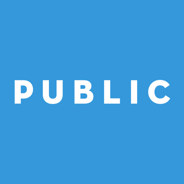 Public logo white on blue 20 1