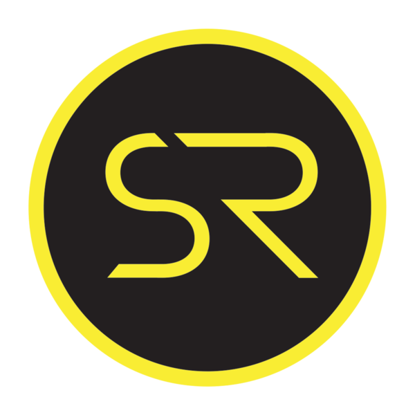 Sr symbol yellow on black