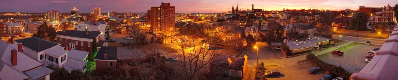Macon night skyline2