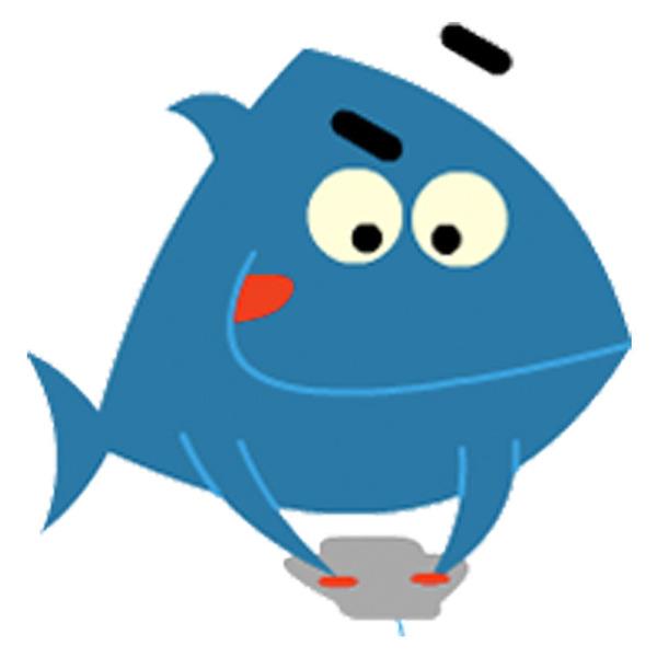 Happy blue fish 72dpi 800px