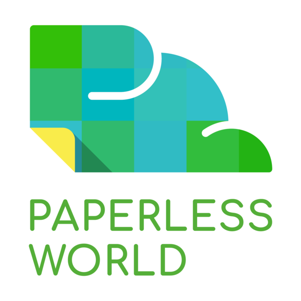 Paperlessworld logo master logo 20square