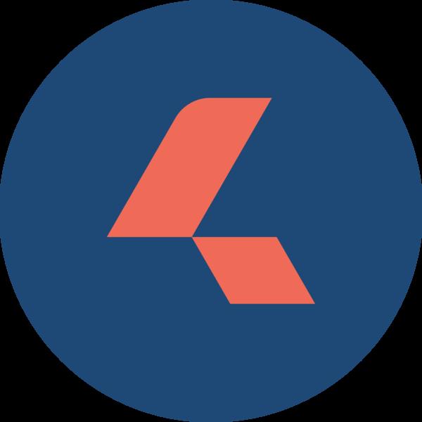 Circlemark orange on blue