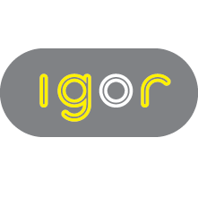 Igor logo withbkgd square