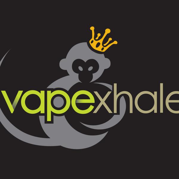 Vapexhale 20black 20background 20logo