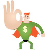 Logo with superhero2