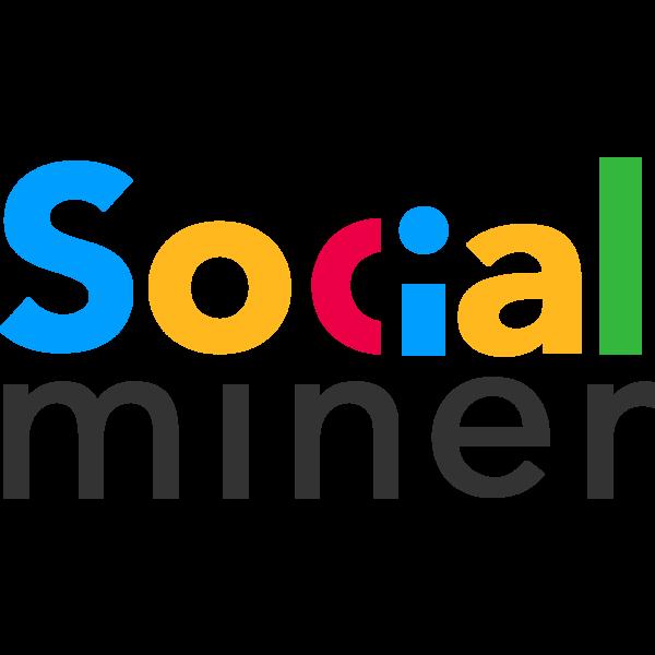 Logo social miner black