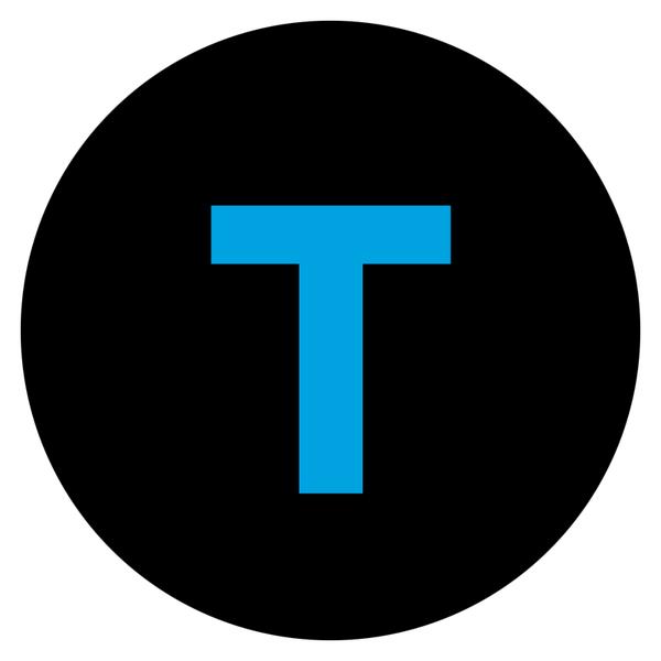 Tel icon circle blue blackcirc whitebg