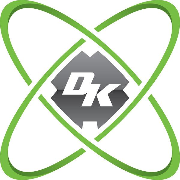 Dk logo emblem light