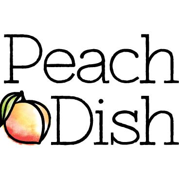 Peachdish color logo no tagline 500px stacked web