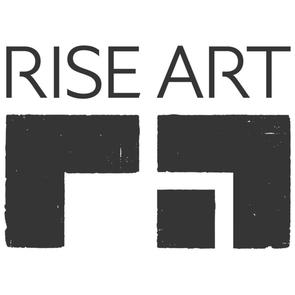 Riseart logo stacked black sq