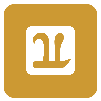 One icon gold transparent