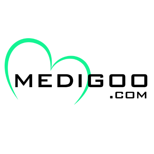 Medigoo com logo black text white bg 500x500