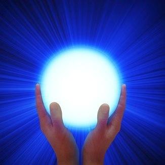 Two hands glow globe 5b1 5d