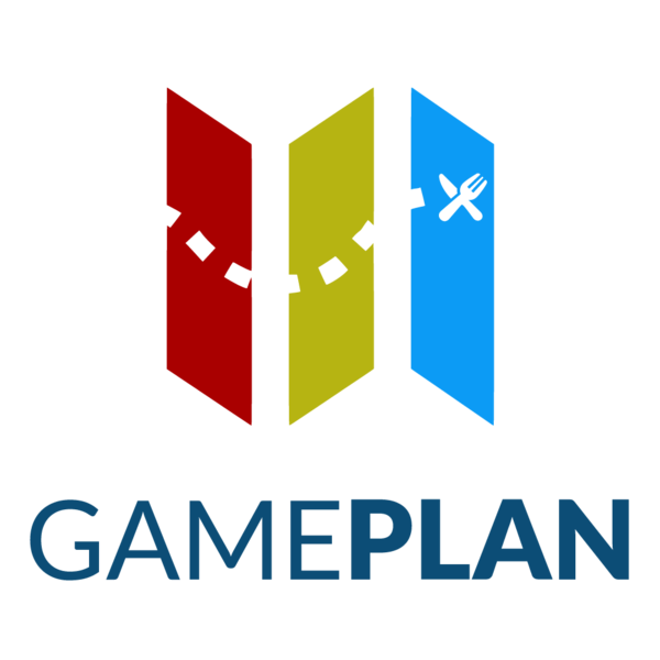 Gameplan logo tall colour