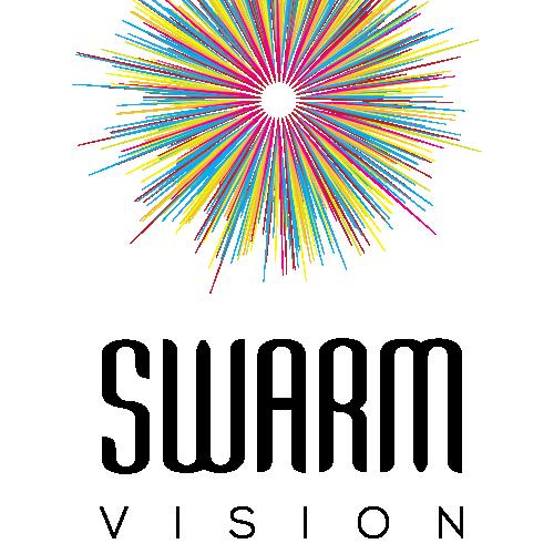 Swarm vision stacked logo