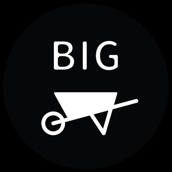 Bigwheelbarrow primary logo bw