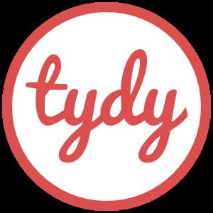 Tydy logo round white
