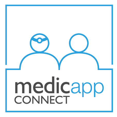 Medicapp connect logo complet 100x100 blanc