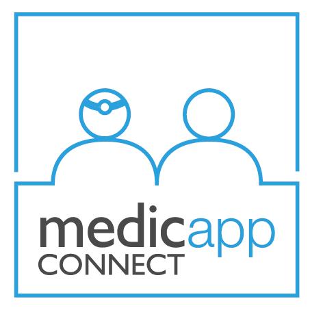 Medicapp connect logo complet 100x100 blanc