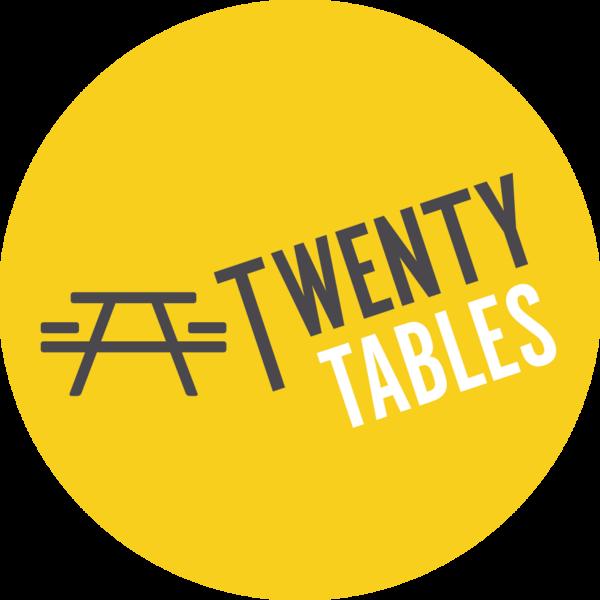 Circular yellow logo