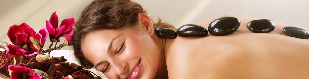 Female hot stone massage