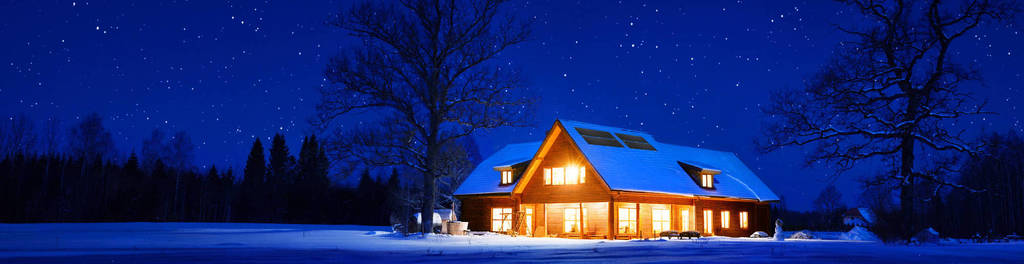 Solar heating winter night 2000
