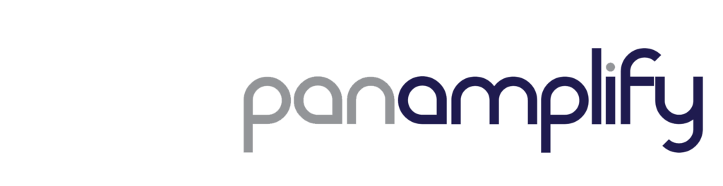 Panamplify logotype gray purple