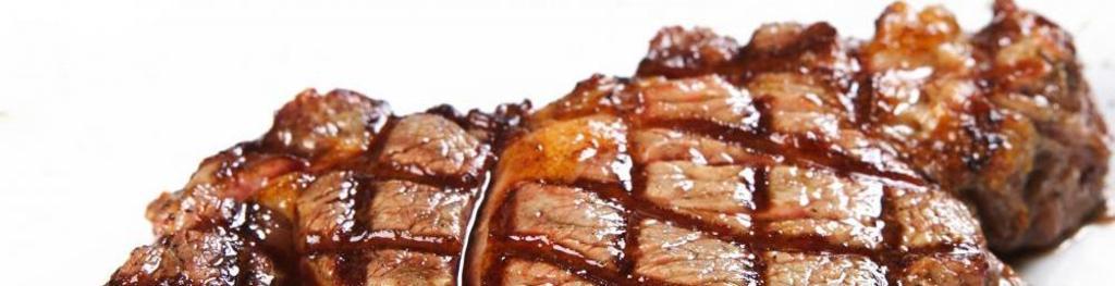 Crisscrossed steak