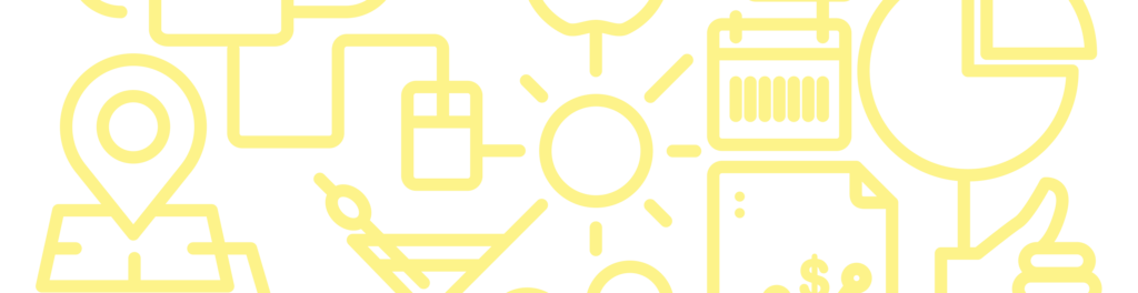 Circulo iconos entrelazados