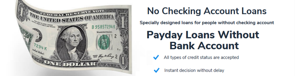 Loans Without Checking Account >> No Checking Account Loans Ogdensburg Ny Usa Startup