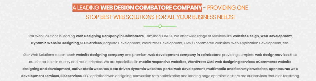 Star Web Solutions | Coimbatore, Tamil Nadu, India Startup