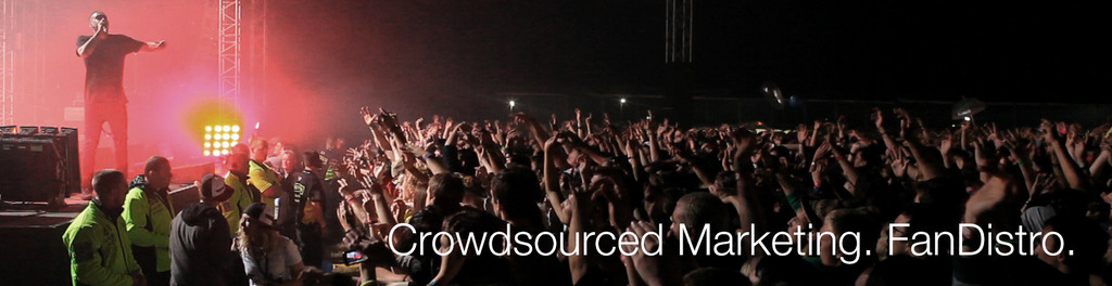 Crowd red motto