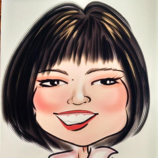 Portrait caricature 20  20connie 20kwan