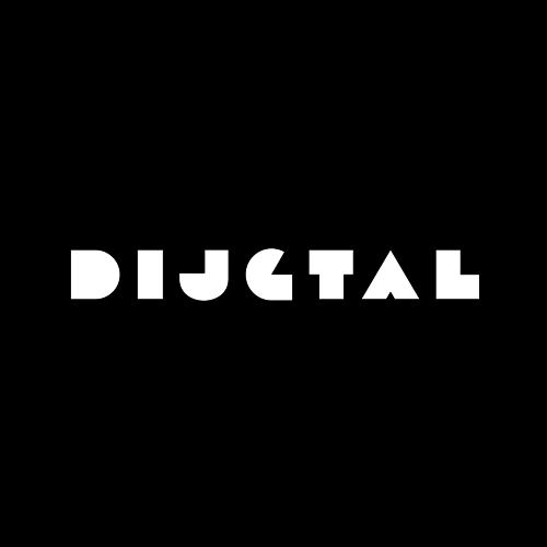 D logo circle black